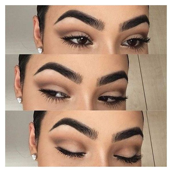 19 Easy Everyday Makeup Looks ❤ liked on Polyvore featuring beauty products, makeup and eye makeup