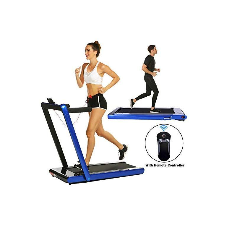 2 in 1 Under Desk Folding Treadmill,Electric Motorized Portable Pad Treadmills Walking Jogging Runni...