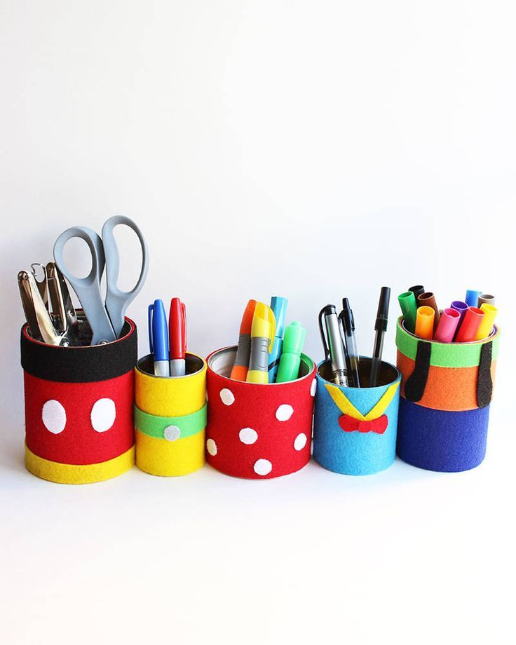 Fab Five Pencil Holders Disney Dorm Disney Playroom