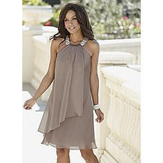 Satin Trapeze Dress Mother Of The Groom
