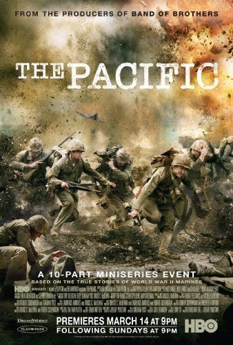 """The Pacific (2010) ~ A 10-part mini-series from the creators of """"Band of Brothers"""" telling the intertwined stories of three Marines during America's battle with the Japanese in the Pacific during World War II."""