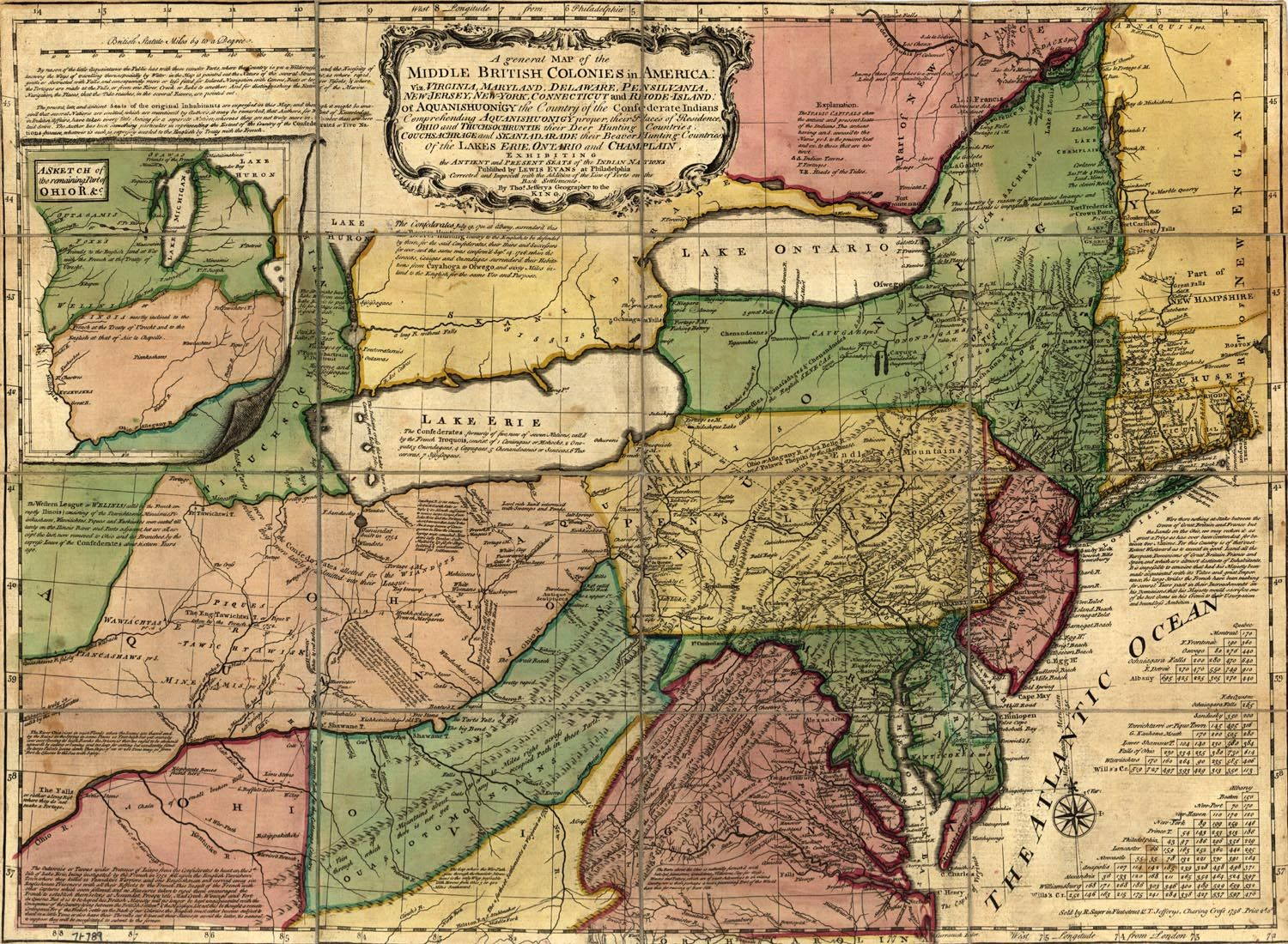 Middle british colonies in america 1758 map usa maps pinterest middle british colonies in america 1758 map usa gumiabroncs Gallery