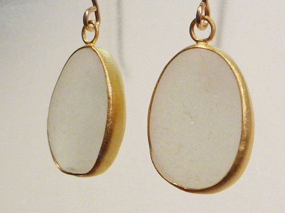 Goldfilled Seaglass Earrings by seaglassjewels on Etsy, $56.00