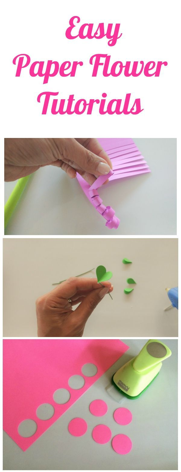 4 Easy Paper Flower Tutorials Paper Flower Tutorial Flower