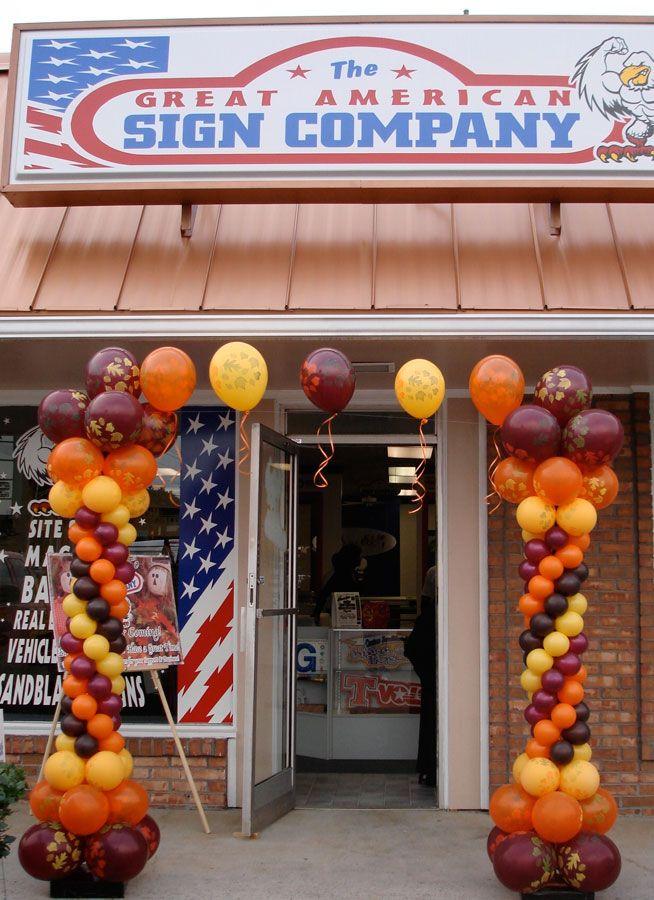 Decorating Ideas > ( FALL ) Entry Balloon Decor  THANKSgiving (Fall  ~ 061918_Thanksgiving Balloon Decorations