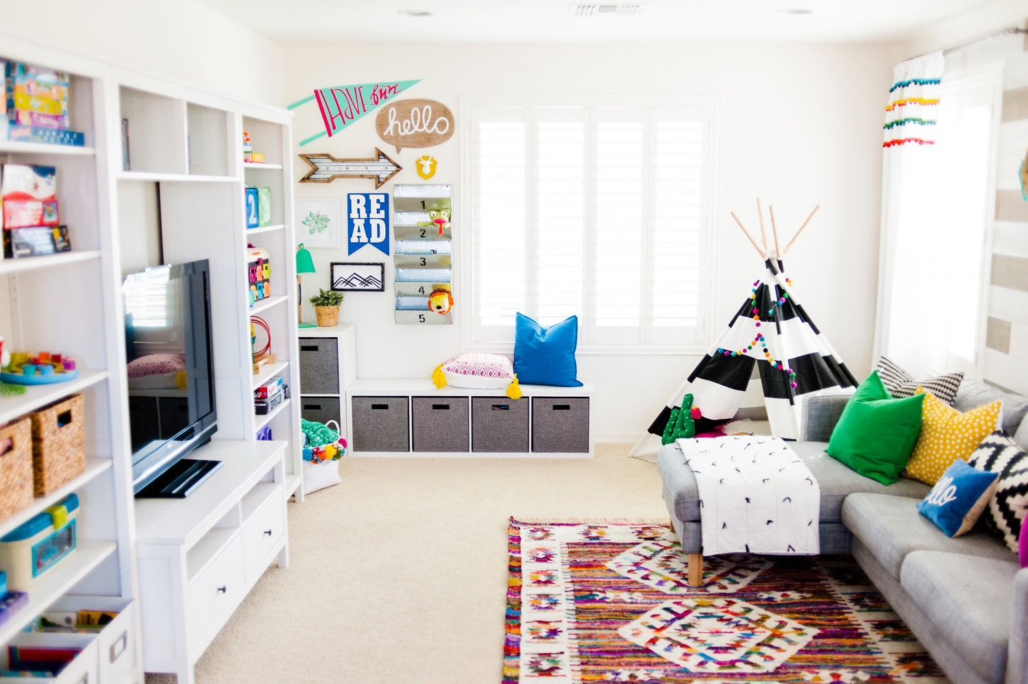 Colorful Playroom Design With The Land Of Nod Living