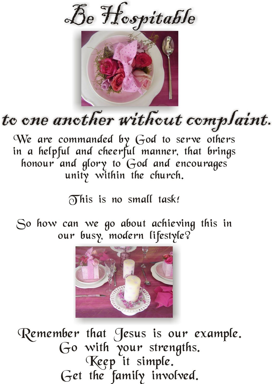 Apples of Gold Proverbs 25:11: We can all work on Homemade Hospitality