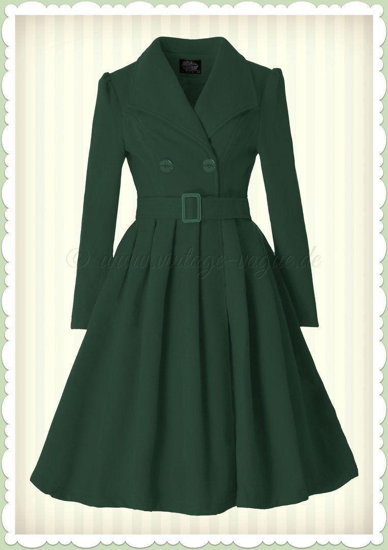 Swing Vintage Jahre Coat 50er Roses Heartsamp; Mantel Teal VqMUzpGS