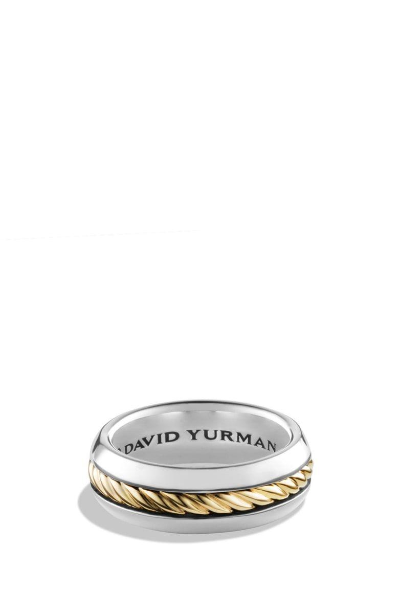 David Yurman Cable Classics Band Ring With 18k Gold David