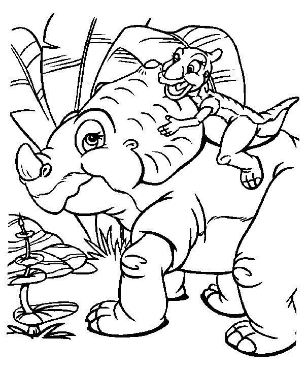 Coloriage Petit Pied Le Dinosaure.Petitpied Le Dinosaure Coloriage Plus Jeune Coloring Pages For