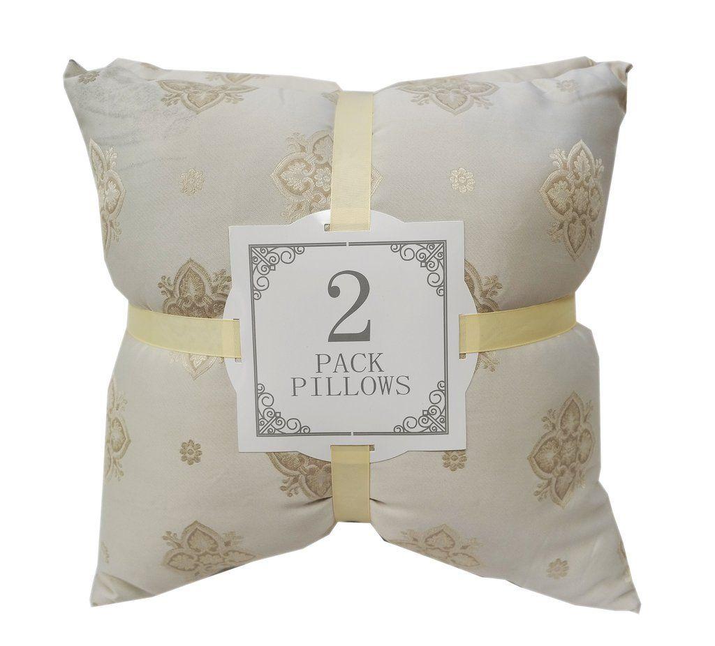 Poly Silk Pale Gold 2 Pack Throw Pillows Silk throw