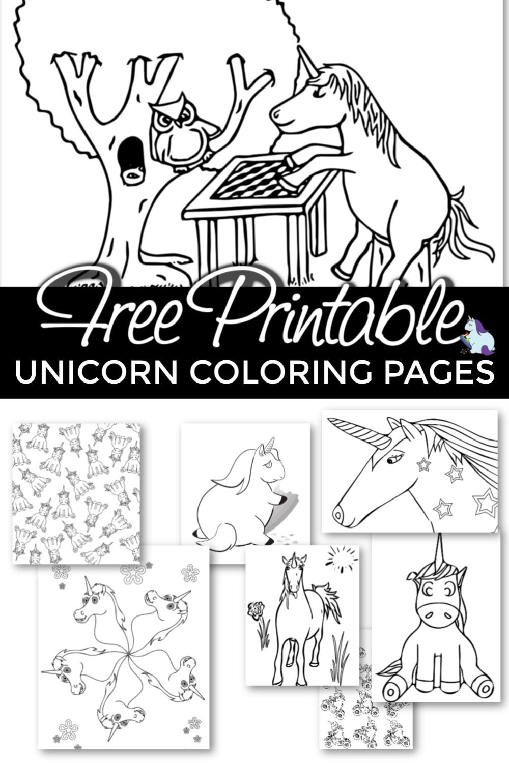 Free Printable Unicorn Coloring Pages Super Cute And Unique Unicorn