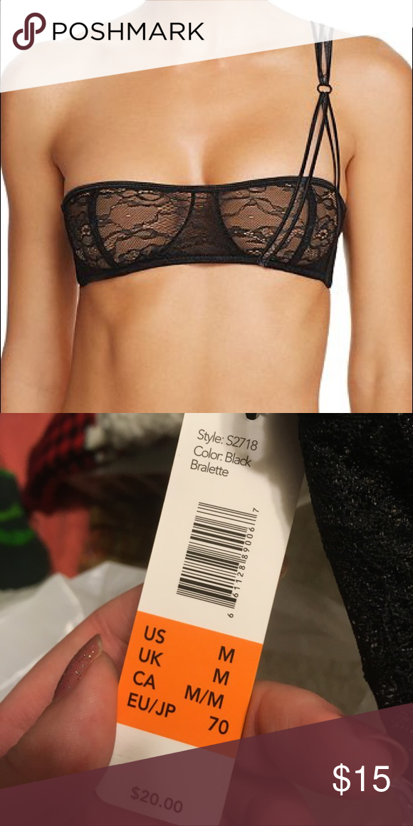 6c2f49af82 Sam Edelman One Shoulder Bralette NWT Sam Edelman One Shoulder Lacey  Bralette Bandeau New with Tags More Pictures Coming Soon!