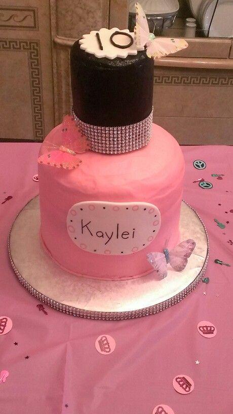 Nail polish cake