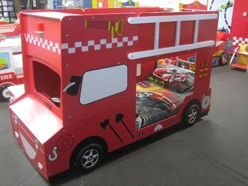 Double Decker Fire Engine Bunk Bed With Headlights Our New Home
