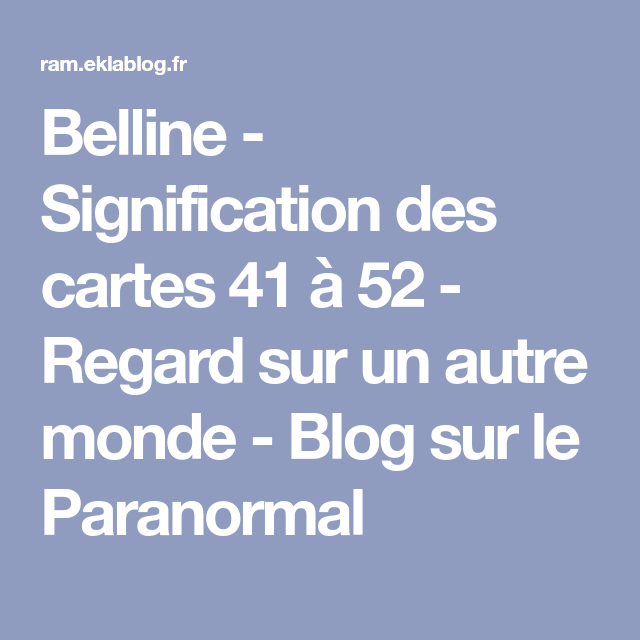 paranormal signification