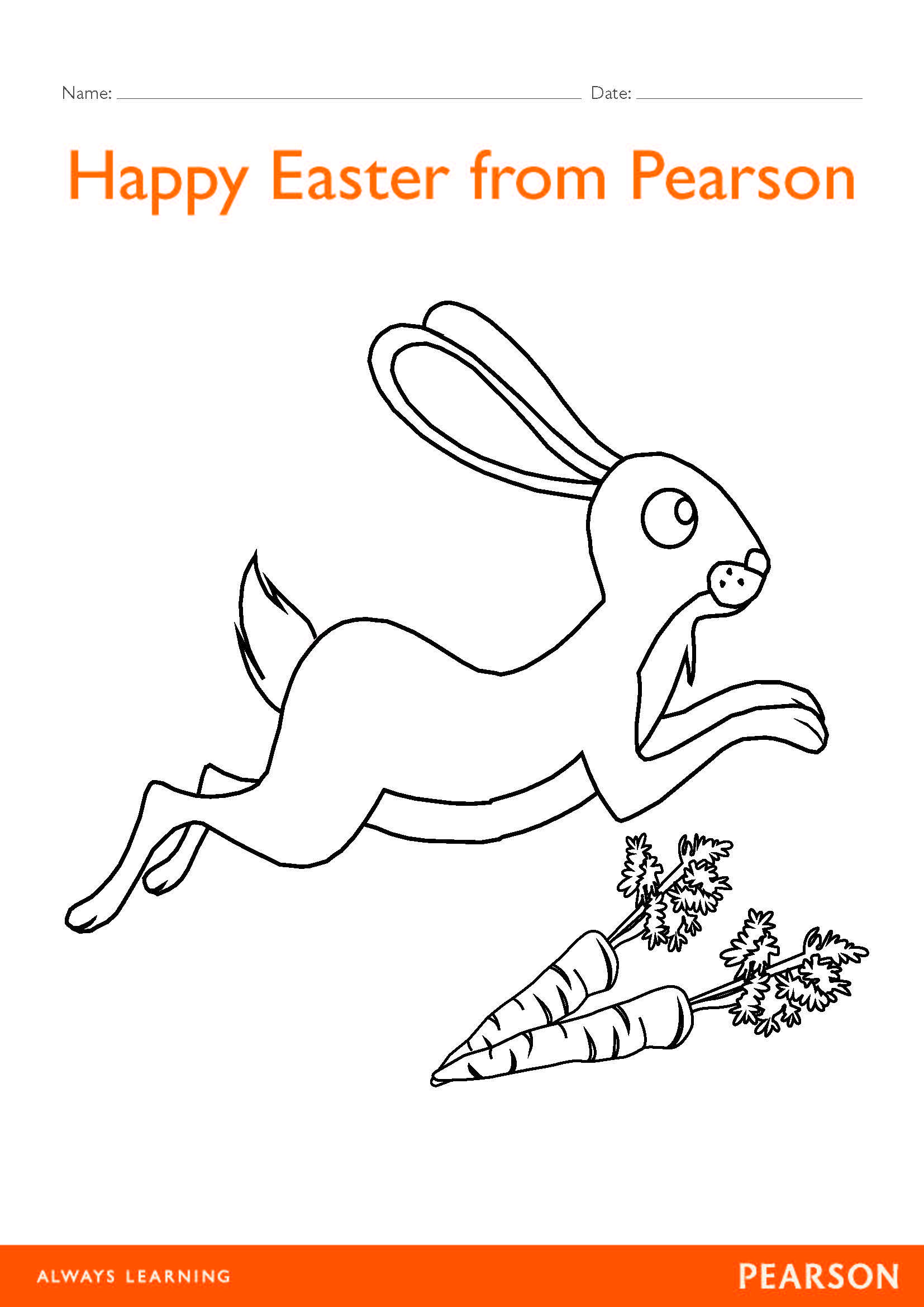 Free Easter Bunny Colour In Worksheet Download This