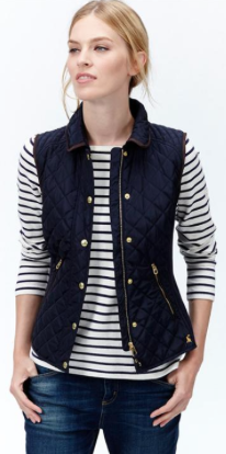 For those chilly days grab this Marine Navy Braemar Premium Quilted Vest from @joulesclothing and earn CASH BACK when you shop with DealAction!