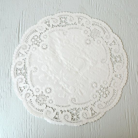 12 Inch French Lace Paper Doilies by WrapAndRevel on Etsy