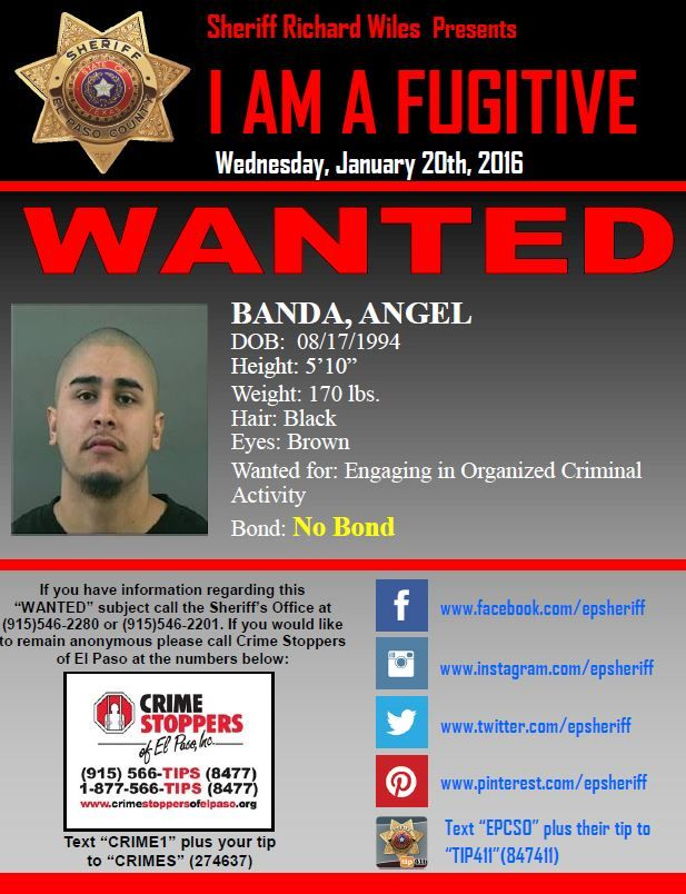 El Paso, TX - The El Paso County Sheriff's Office Warrants and