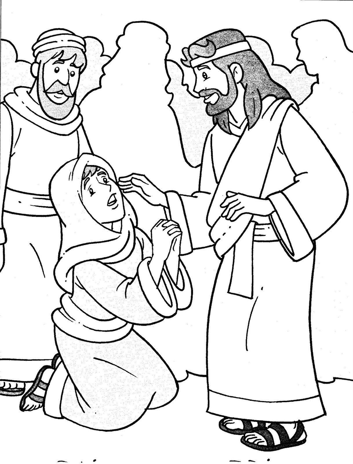 Milagres71 Jpg 1218 1600 Jesus Heals Jesus Coloring Pages
