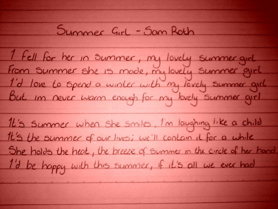 Lyric pretty girls lyrics : Summer Girl