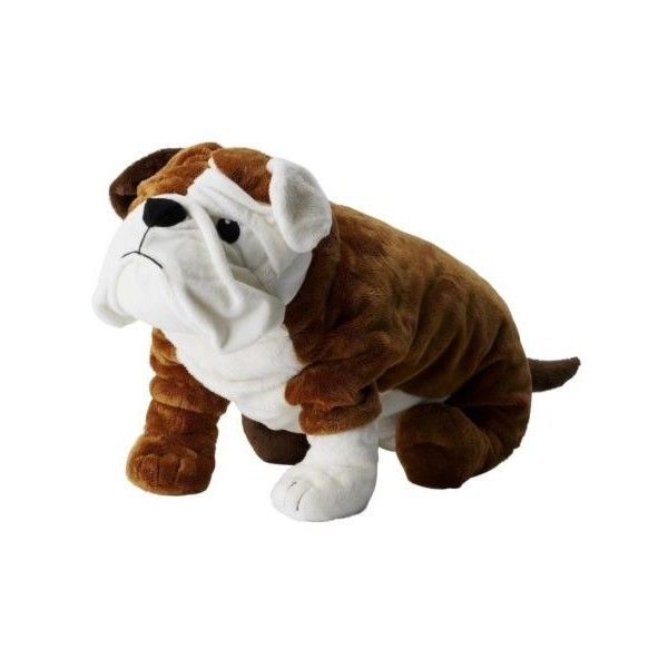 IKEA Gosig Bulldog ($15) ❤ liked on Polyvore featuring soft toy