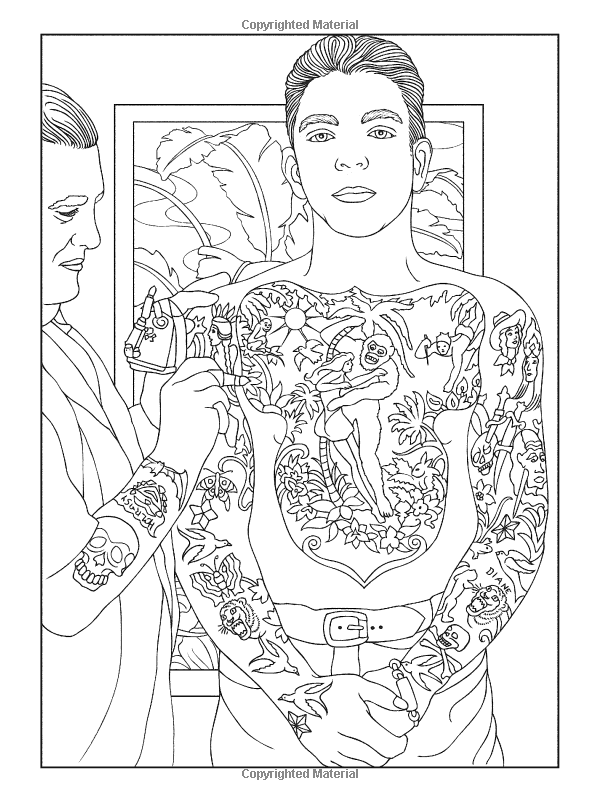 Body Art: Tattoo Designs Coloring Book (Dover… (Paperback) | Dover ...