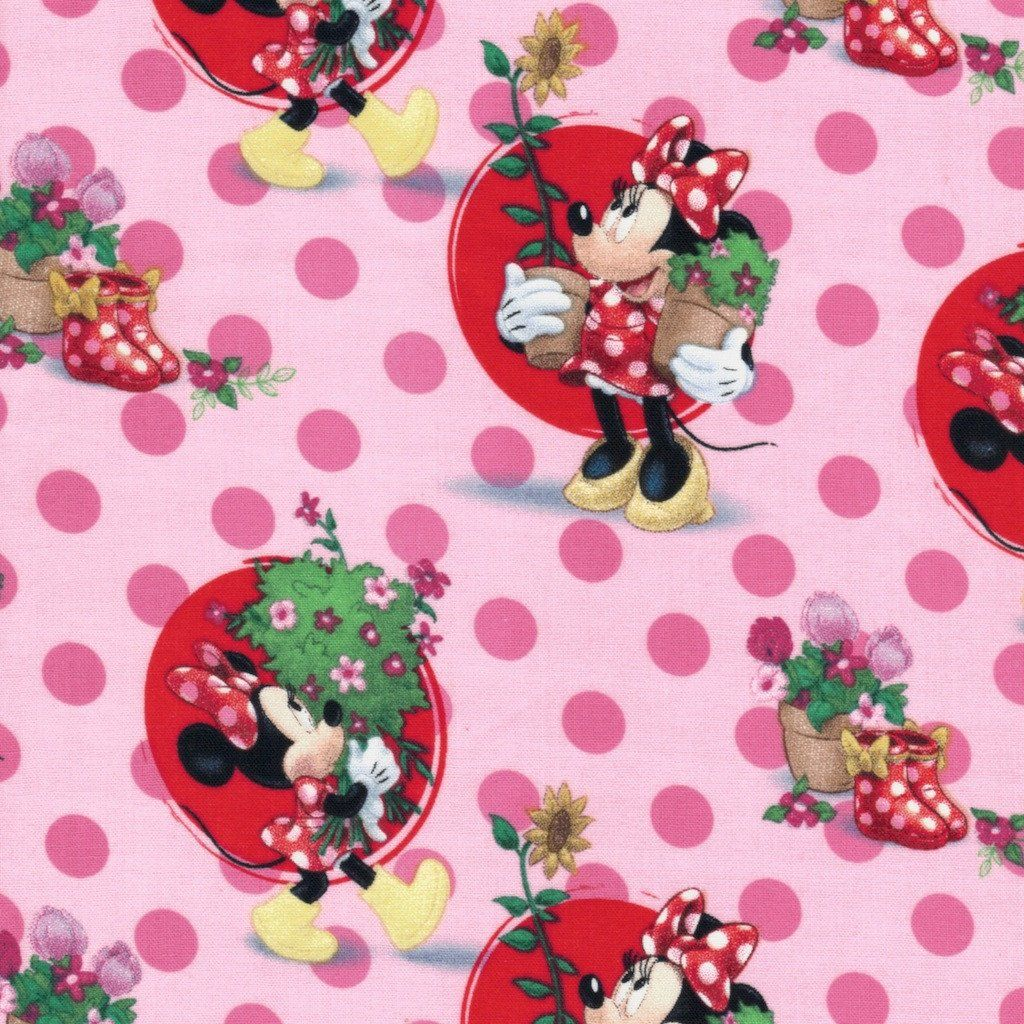 Minnie Mouse Smell the Flowers Fabric Disney fabric