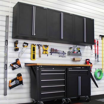 beautiful costco proslat pc garage cabinet set with bonus wall cabinet need to check with. Black Bedroom Furniture Sets. Home Design Ideas