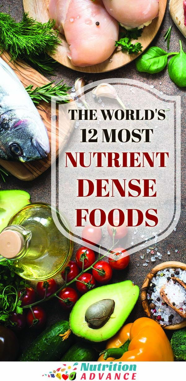 The 12 Most Nutrient Dense Foods in the World The World's 12 Most Nutrient Dense Foods | Nutrient density is one of the most important considerations when judging how healthy (or not) a particular food is. This article provides a list (and explanation) of 12 of the world's most nutrient dense foods, alongside all the beneficial nutrients each one offers. For a healthier diet, including some of these foods can do a lot!