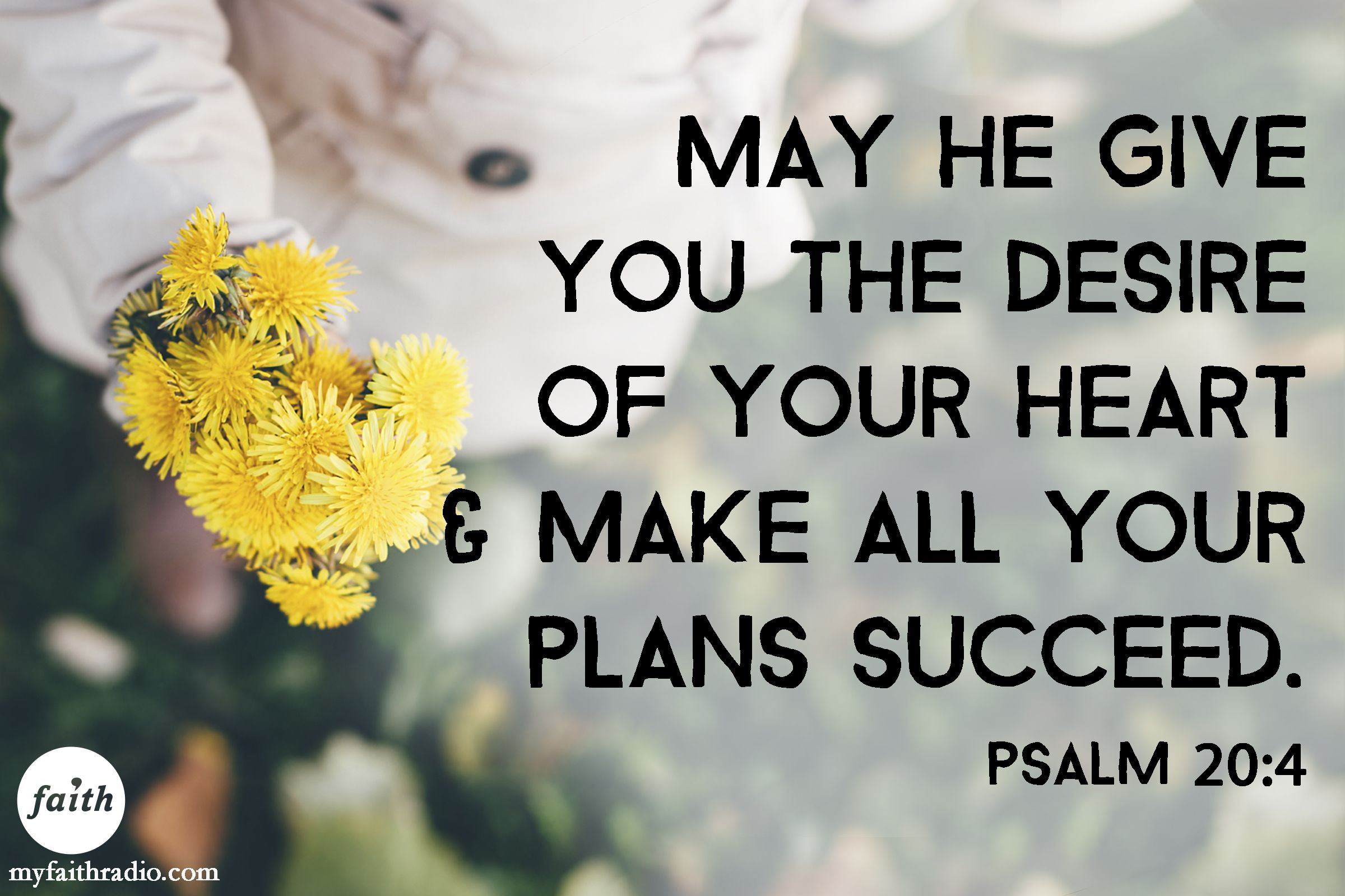 Image result for may he give you the desire of your heart scripture