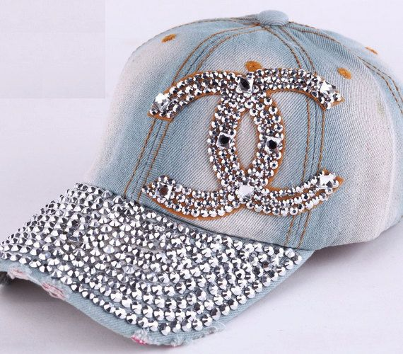 Black or Pink 100/% Cotton BLING Baseball Cap Style.....Add Bling To Your Style!