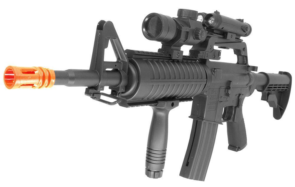 WELL AIR SOFT MACHINE GUN MR-744 with 5000 Ultrasonic BB's