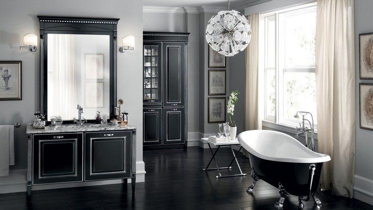 Schwarzes Badezimmerschrank In 30 Trendigen Ideen Meuble Salle