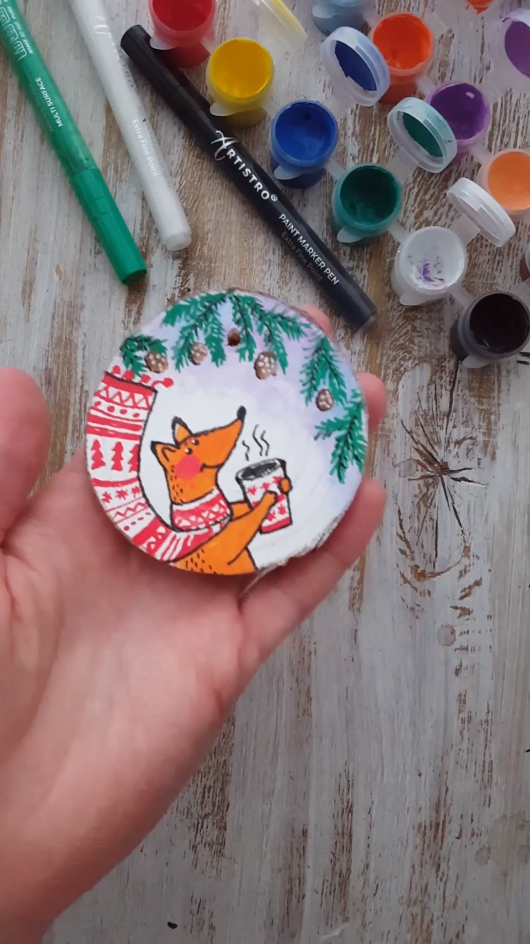 Christmas ornament with fox