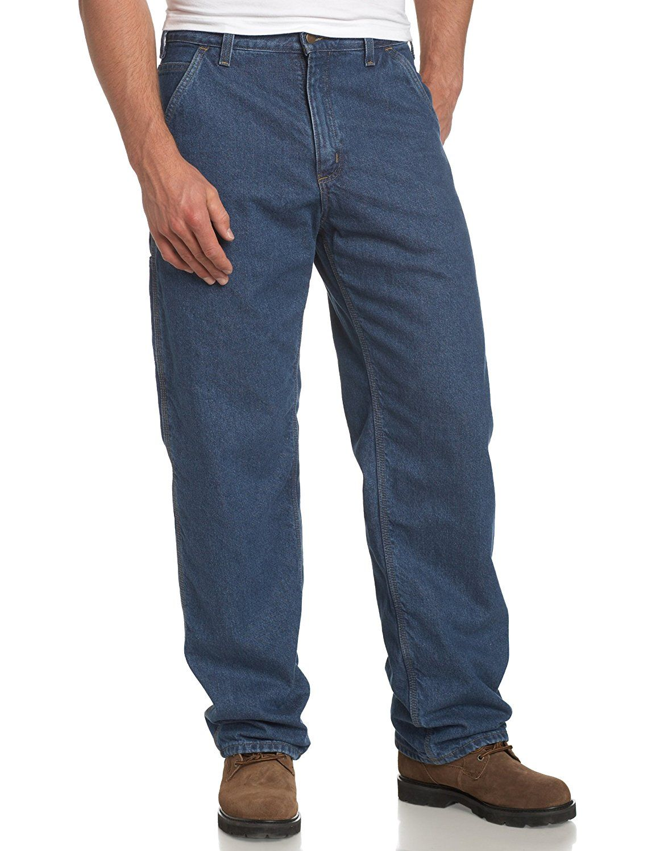 Carhartt mens original fit work dungaree flannel lined