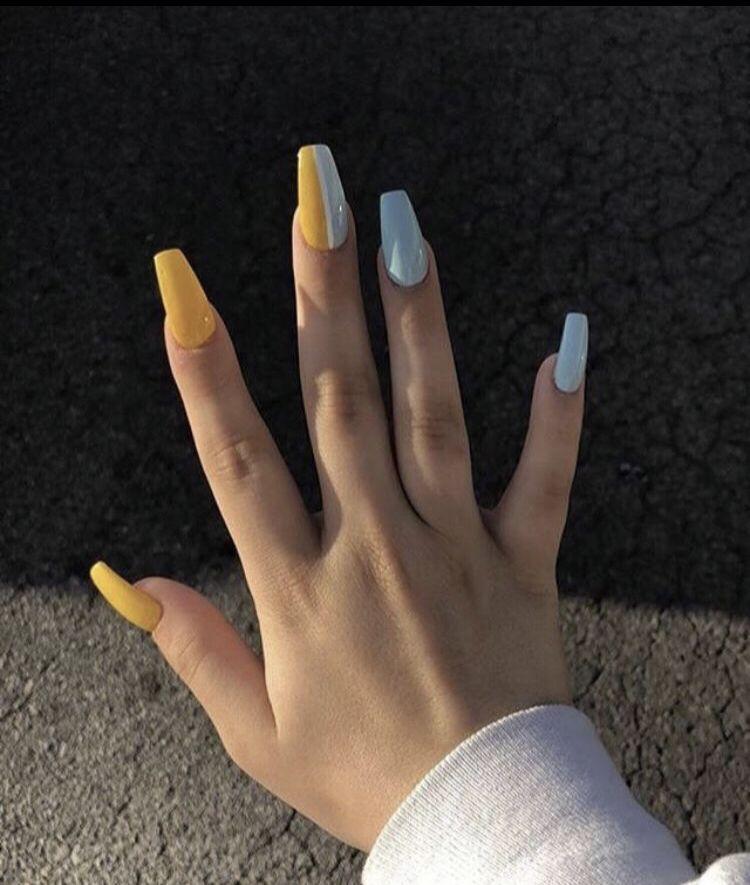 Pinterest Cute Acrylic Nails Yellow Nails Pretty Acrylic Nails