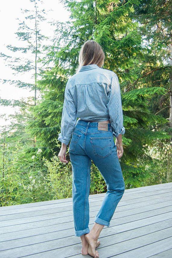 30bd7540 Levi's 501 jeans, Women's 30 31 Waist vintage levis jeans, 90s ...