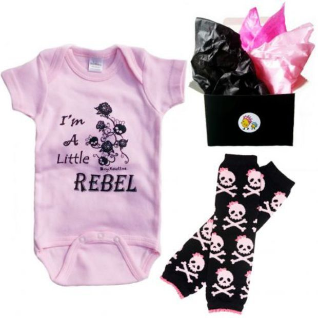 Punk Rock Baby Clothes Skull Onesuits Cool Toddler Apparel Tattoo