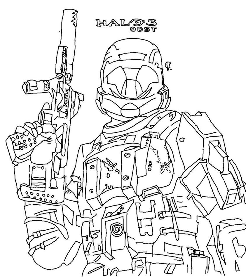 Free Printable Halo Coloring Pages For Kids | Halo free, Free ...
