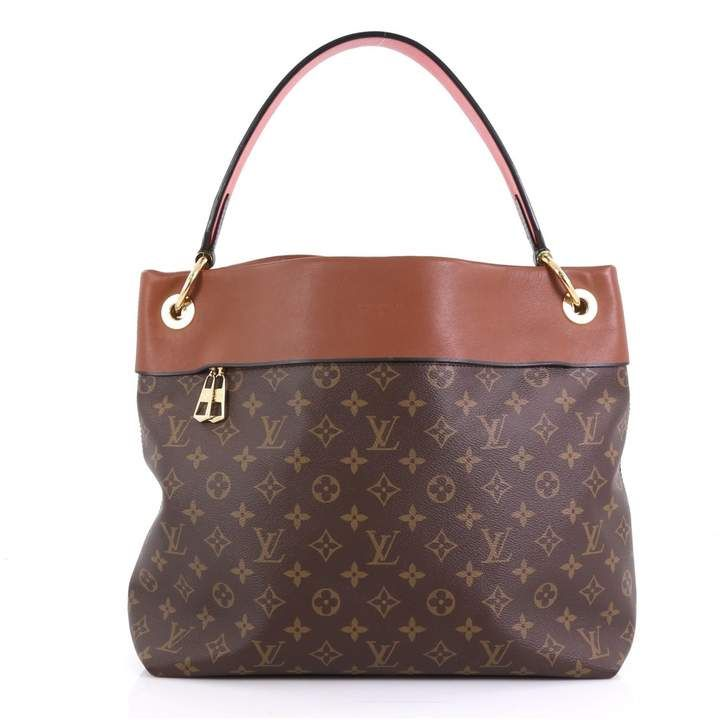 Louis Vuitton Tuileries Brown Cloth Handbag Handbag Outfit Louis Vuitton Woman Bags Handbags