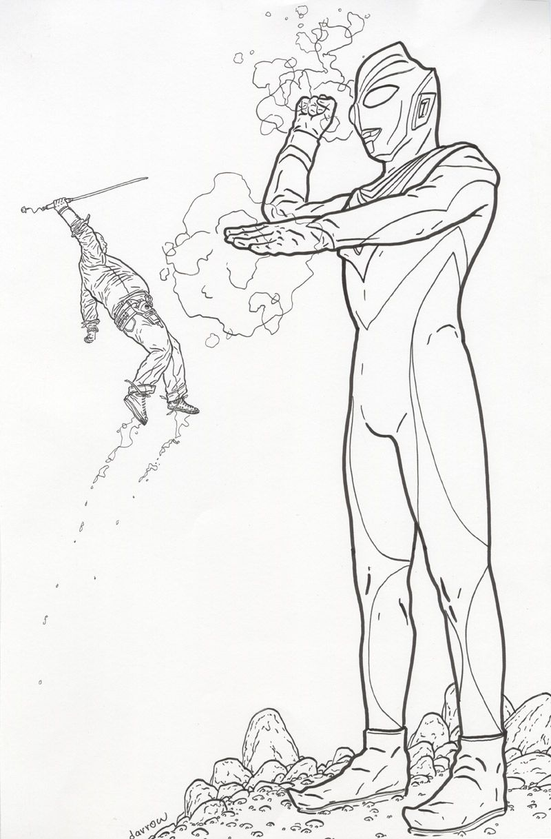 Shaolin Cowboy Vs Ultraman By Geof Darrow Comic Art Geof Darrow Art Comic Art [ 1217 x 800 Pixel ]