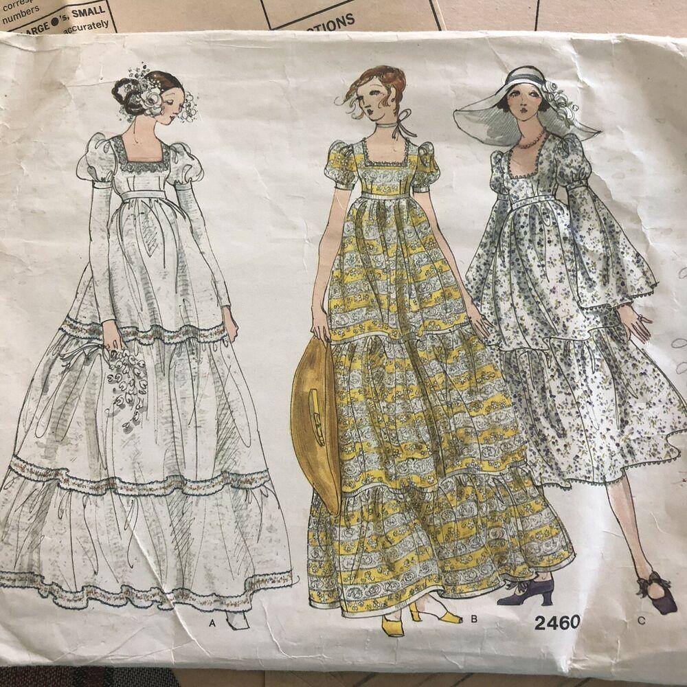 Vintage Vogue Bridal Design Boho Hippie Wedding Dress