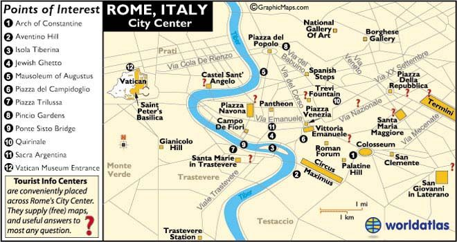Rome On Map Of Italy.Rome Italy Map And Map Of Rome Information Page Italy Italy Map
