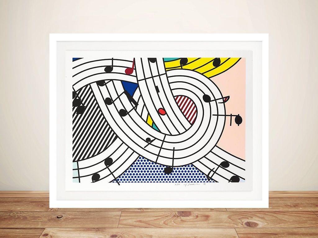 Modern Roy Lichtenstein art painting print  abstract canvas large australia