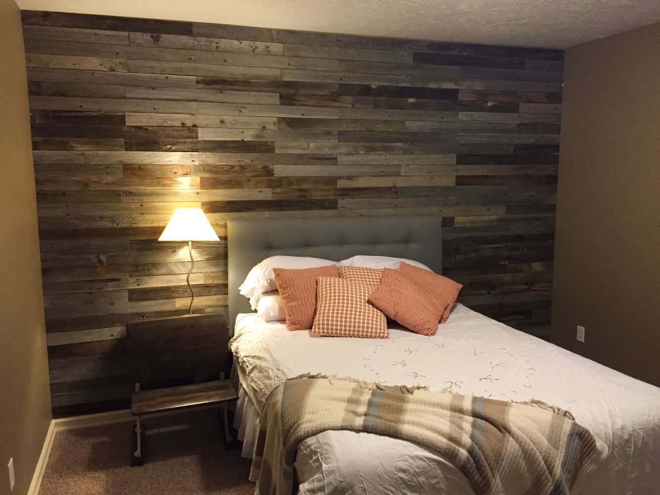 Barnwood Feature Wall Using Our 3 Diy Planks