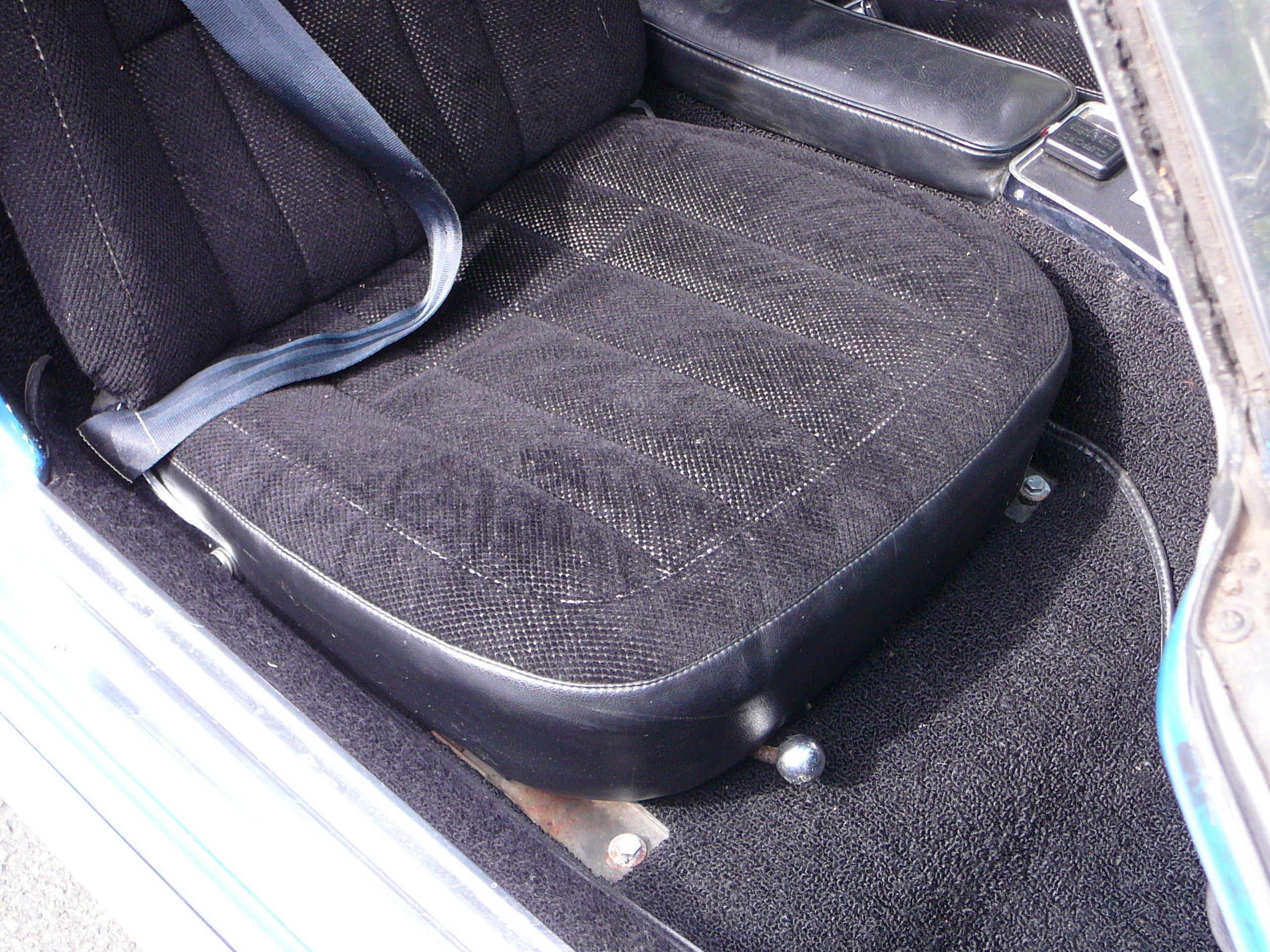 Passenger side seat close up