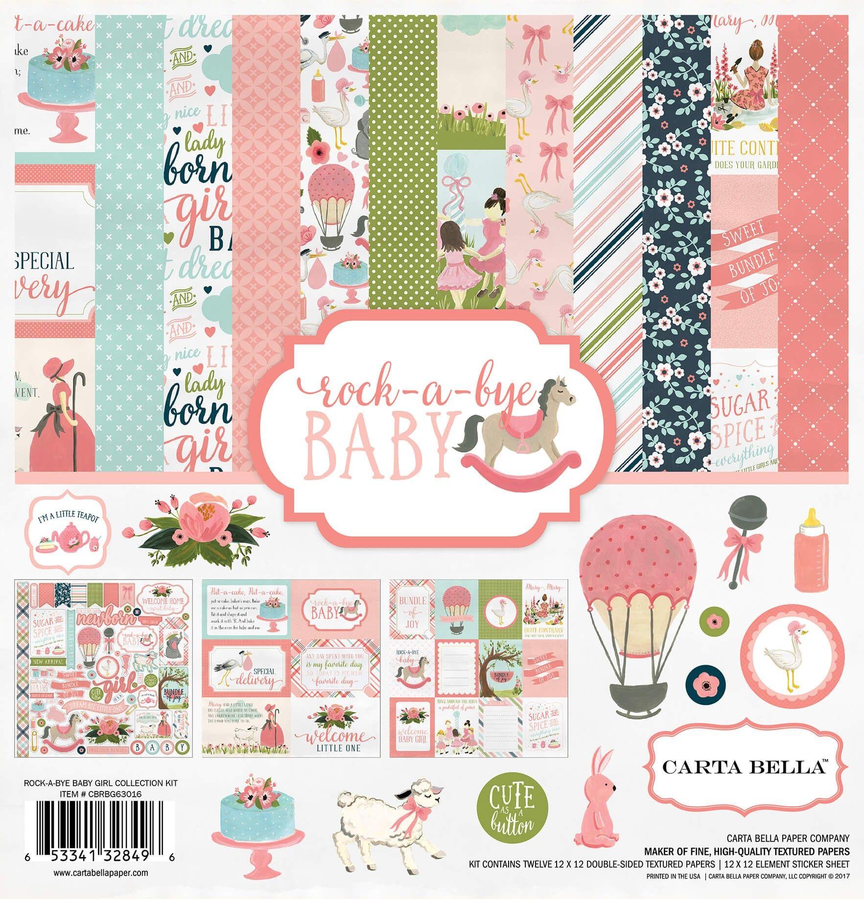 Carta Bella Rock-A-Bye Baby Boy Sticker Sheet