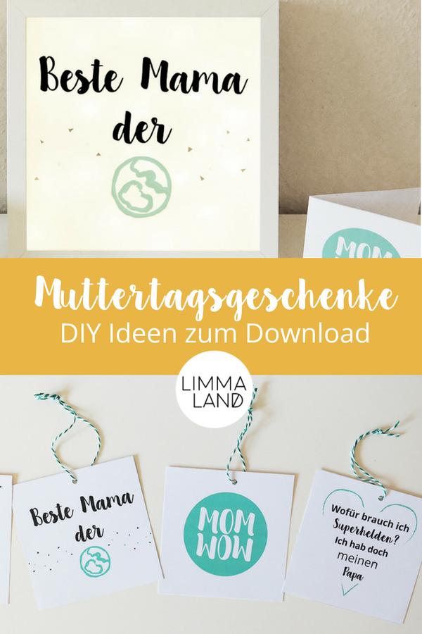 Muttertagsgeschenk selber machen: DIY Lightbox zum Mutter ...